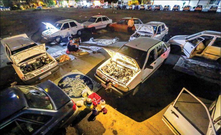 رانندههای اسنپ و تپسی که شبها در یک گود حاشیه تهران میخوابند
