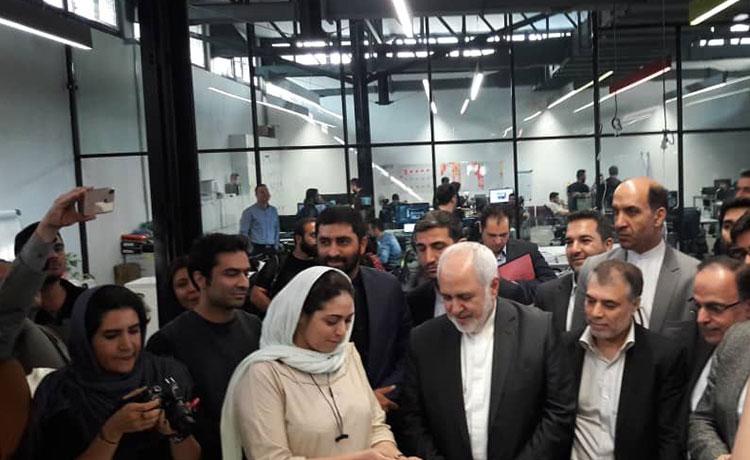 بازدید وزیر امورخارجه از کارخانه نوآوری آزادی